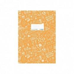 HERMA Protège-cahier Schoolydoo A4 polypro avec etiquette Orange