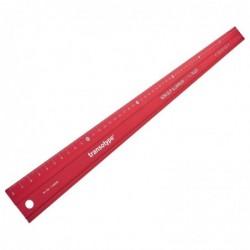TRANSOTYPE Règle de coupe Aluminium antidérapante 60 cm Rouge