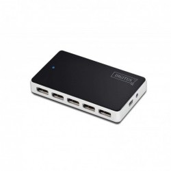 DIGITUS USB 2.0 Hub 10 Ports Alimentation Externe Noir