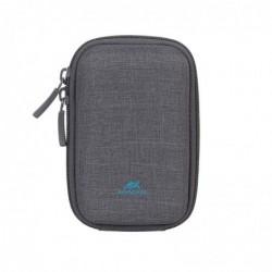 RIVACASE Sacoche compacte pour Appareil Photo gris Dim Interne 7x11,5x5,5 cm