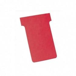 NOBO Lot de 100 fiches T indice 2 sous blister rouge