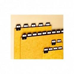 NOBO Lot de 25 Valrex intercalaires pour boîtes à fiches A7 paysage