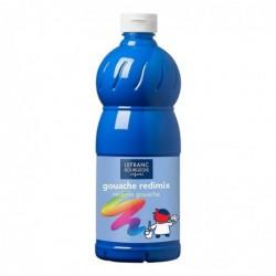LEFRANC BOURGEOIS Gouache liquide 1.000 ml, bleu