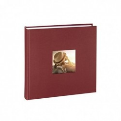 "HAMA Album photo Jumbo ""Fine Art"" 30 x 30 cm 100 pages blanches Bordeaux"