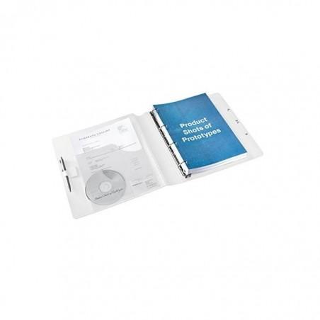 LEITZ Classeur à anneaux A4 Active SoftClick WOW Dos de 50 mm Rose