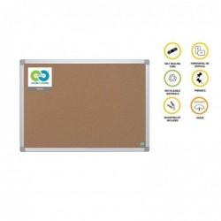 BI-OFFICE Tableau liège recyclable cadre alu 60 x 90 cm