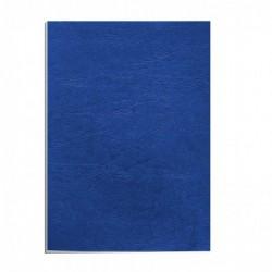 FELLOWES Pack de 100 Couverture reliure Delta Grain Cuir DIN A4 250g Bleu Royal