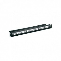 "GOOBAY Patch panel 19"" 24 Ports Keystone SNAP-IN non équipé 1 U Noir"