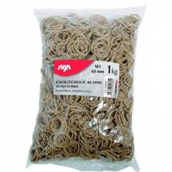 SIGN Sac 1 Kg Bracelets caoutchouc étroits 60 mm coloris blond