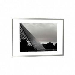 PAPERFLOW Cadre photo contour aluminium plaque en plexiglas 30 x 42 cm coloris argent