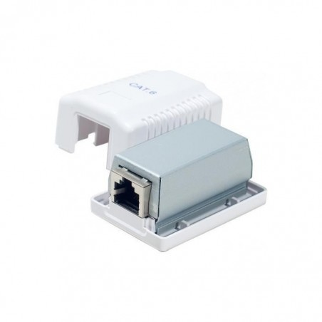 DEXLAN Boitier mural Cat6 contact CAD 1 port RJ45 blindé