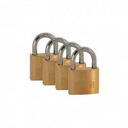 KASP Série 120 Lot de 4 Cadenas à clé 40 mm