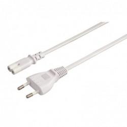 HAMA Câble d'alimentation secteur 5m Blanc