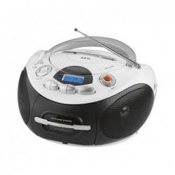 AEG Radio-cassette stéréo AEG CD SR 4366 CD/MP3/USB Noir/Blanc
