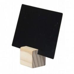 SECURIT Kit 6 Ardoises Foramt A7 + support TEAK 25x25 mm + 1 Feutre Craie Blanc