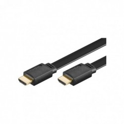 GOOBAY Câble High Speed HDMI™ Ultra Plat Avec Ethernet 1,5 m Noir