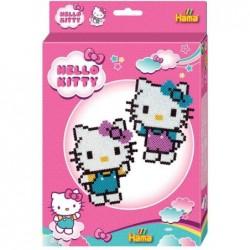 "HAMA Perles à repasser midi ""Hello Kitty"", petit coffret"