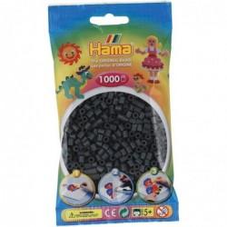 HAMA Sachet de 1000 Perles à Repasser Midi 5 mm Gris foncé
