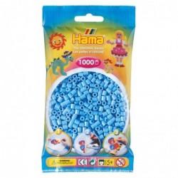 HAMA Sachet de 1000 Perles à Repasser Midi 5 mm Bleu pastel