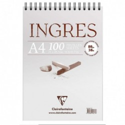 CLAIREFONTAINE Bloc Ingres Etude vergé A4 100F 80g Ivoire