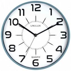 "UNILUX Horloge à quartz ""POP"" Diam 30 cm Silencieuse Cadre pastique Bleu"