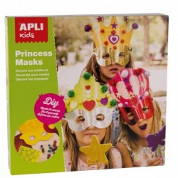APLI Boite 3 masques princess à décorer