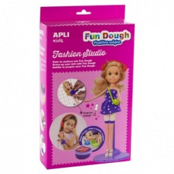 APLI Boite poupée blonde à habiller en pâte Fun Dough