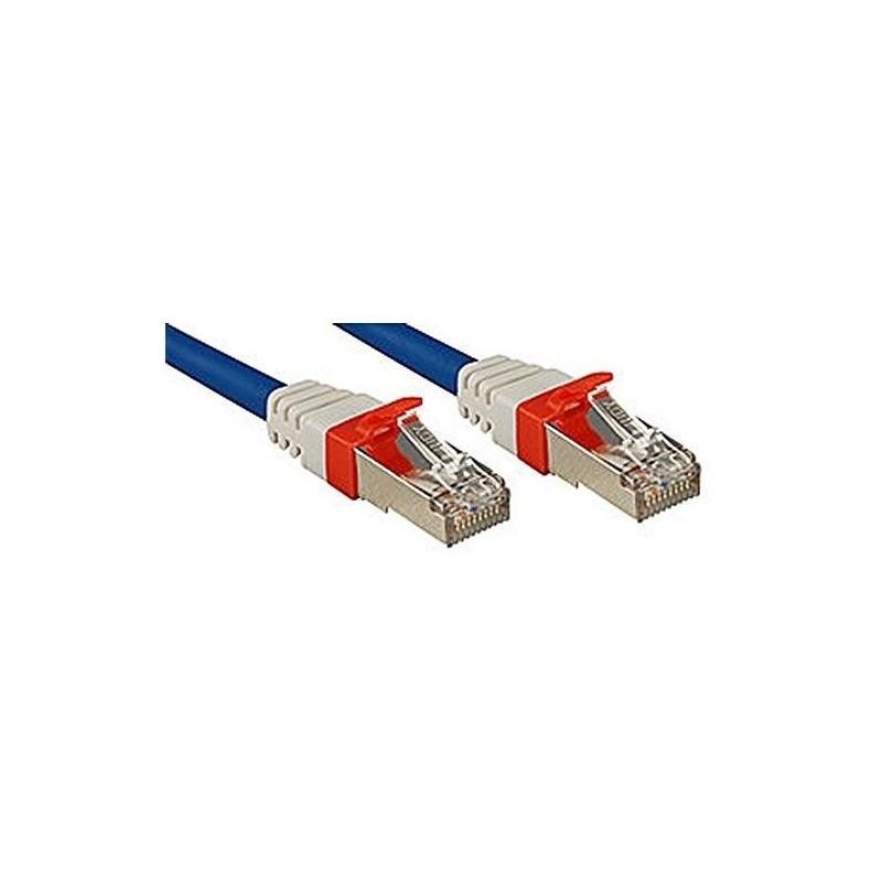 LINDY Câble réseau cat.6A S/FTP PIMF Premium cuivre 10 Gbit 500Mhz LSOH bleu 15m