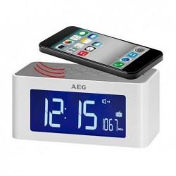 AEG Radio-réveil avec haut parleur sans fil MRC 4140 i Blanc