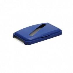DURABLE Couvercle DURABIN LID WITH SLOT 60, rectangulaire bleu