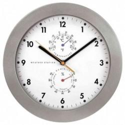 HAMA Horloge « PG-300 » murale 30 cm avec thermomètre Argent
