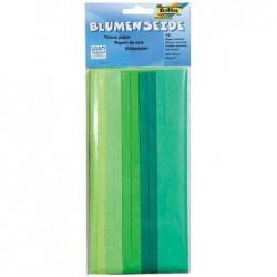 FOLIA Lot de 10 Papier de soie (L)500 x (H)700 mm 20 g/m2 Assortiment Vert