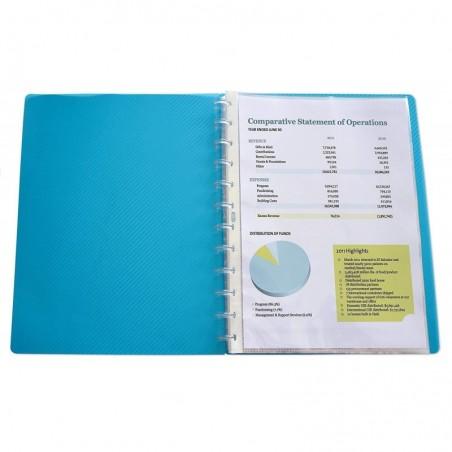 OXFORD Lot de 10 pochettes amovibles polypro pour protège documents Vario Zip