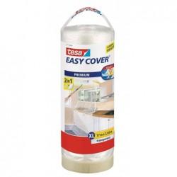 TESA Rouleau de recharge pour couverture plastique EasyCover 2,6 m x 17 m