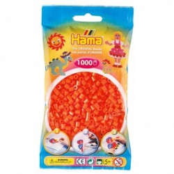 HAMA Sachet de 1000 Perles à Repasser Midi 5 mm Orange
