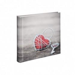 HAMA Album Photo Rustico Metal Heart 30x30 cm 100 Pages Blanches 400 Photos 10x15