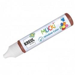 "KREUL Window Color Pen ""MUCKI"", marron foncé, 29 ml"