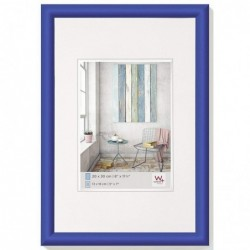 WALTHER Cadre Photo Plastique Trendstyle 40x50 Bleu indigo