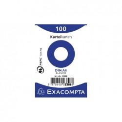 EXACOMPTA Paquet 100 fiches Bristol non perforé A8 55x74mm Blanc Uni
