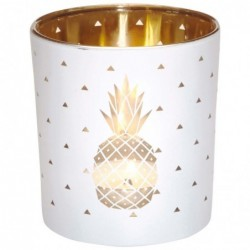 DRAEGER Photophore Ananas Blanc et or