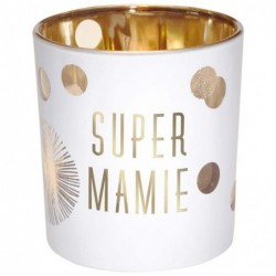 DRAEGER Photophore Super Mamie Blanc et or