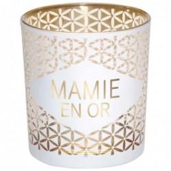 DRAEGER Photophore Mamie en or Blanc et or