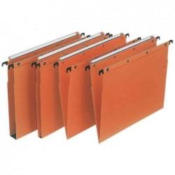 L'OBLIQUE AZ Boite de 25 Dossiers suspendus Foolscape 39 cm Tiroirs ULTIMATE AZO Fond V Orange