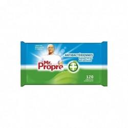 MR PROPRE Lingettes de Nettoyage Multi-Usages Antibactériennes 120 Unités