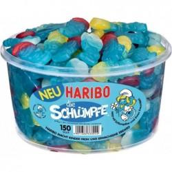 HARIBO Boîte ronde de 150 bonbons gélifiés LES SCHTROUMPFS