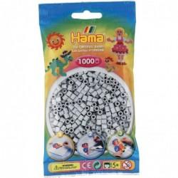 HAMA Sachet de 1000 Perles à repasser Midi 5 mm Gris clair