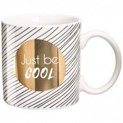 DRAEGER Mug cadeau Just Be cool Blanc