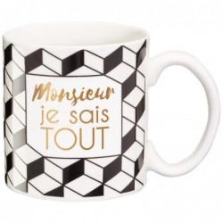 DRAEGER Mug cadeau Monsieur je sais Blanc