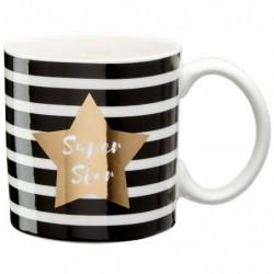 DRAEGER Mug cadeau Super star Blanc