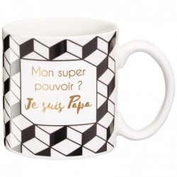 DRAEGER Mug cadeau Mon super pouvoir? Blanc